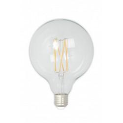 LED täyslasinen pitkäfilamentti iso pallonmuotoinen 240V 4W 350lm E27 GLB125, kirkas 2300K himmennettävä, energialuokka A+