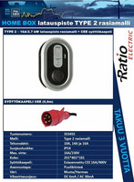 Latauspiste, Type 2 - 16A (3.7kW) rasiamalli