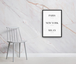 Paris-New York-Milan -juliste