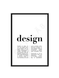 Design -juliste