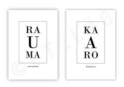 Rauma, Kaupunginosat -juliste