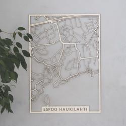 Kotikaupunkikartta Espoo Haukilahti