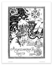 Muumilaakson Kartta -juliste