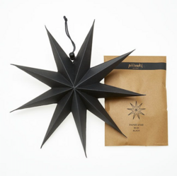 Paperitähti, 30 cm Musta