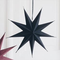 Paperitähti, 40 cm Musta