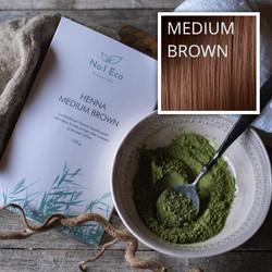 Henna Kasvihiusväri, Medium Brown