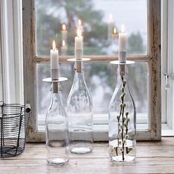 Kynttilänpidike Pulloon, Valkoinen