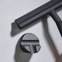 Kylpyhuonelasta + Seinäkiinnike - Musta