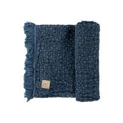 Beda Pellavavohvelipyyhe, 44x80 cm - Sininen
