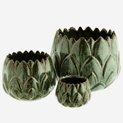Ruukku Vihreät Lehdet - 9 cm
