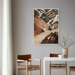 Plywood Print - Landmannalaugar 30x40