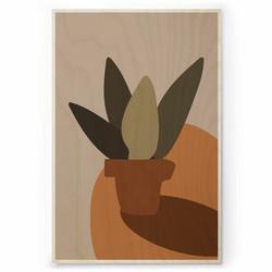Plywood Print - Terracotta 01 30x40
