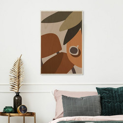 Plywood Print - Terracotta 02 30x40