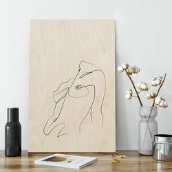 Plywood Print - Breath 30x40