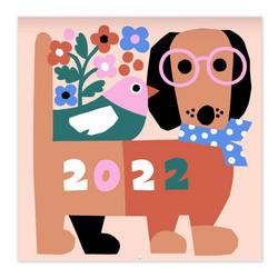 Pieni Seinäkalenteri - Leena Kisonen 2022