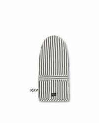Uunikinnas Herringbone Striped Mitten - Musta/Valkoinen