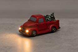 Punainen Lava-auto-koriste LED-valolla