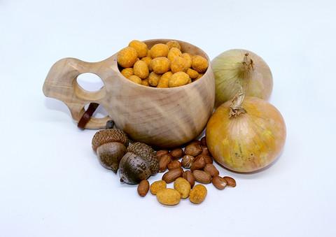 Juusto-sipuli Maapähkinät