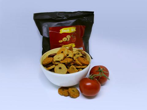 Tomaatti-chili Leipäsipsit