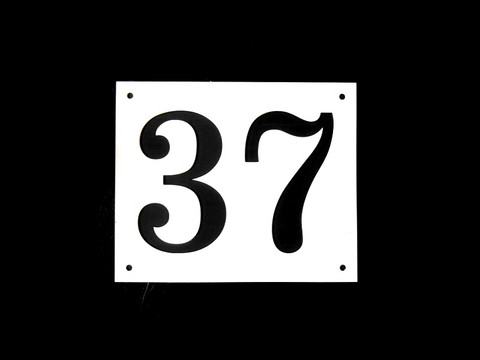 Numerokyltti kaksi numeroa