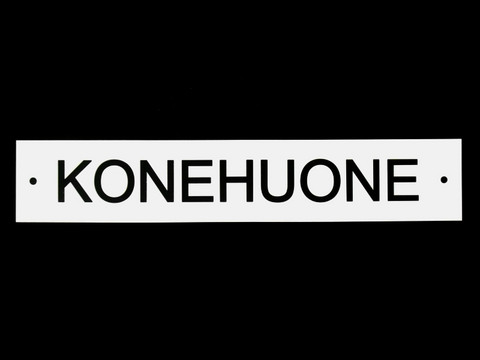 KONEHUONE-kilpi