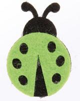 Vihreä huopaleppäkerttu 2,5x4,0cm 8kpl/pss