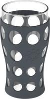 Hiilen musta 4x 600ml juomalasi silikonisuojuksella