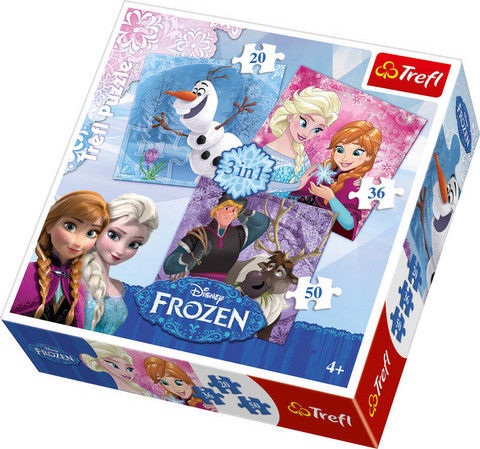 Disney Frozen 3 in 1 palapeli