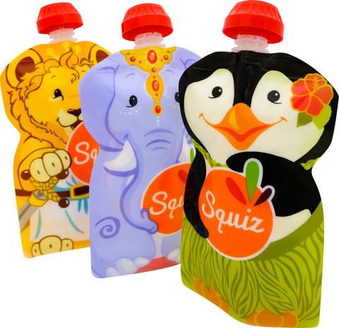 Squiz Karnevaali, Uudeelleen täytettävä lastenruokapussukka 130ml