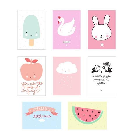 Poster lightbox sheets: Little girl