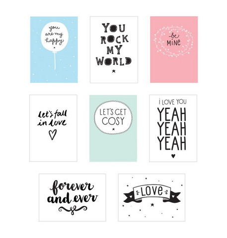 Poster lightbox sheets: Love