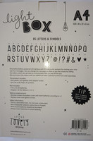 Lightbox A4 mustavalkoinen