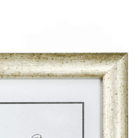 20x30 Valokuvakehys, hopea murrettu