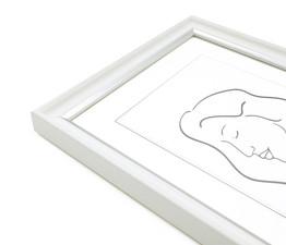 Aava 10x13 Valokuvakehys, valkoinen hopeaviivalla