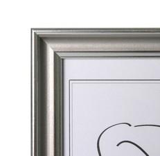 Aava 15x20 Valokuvakehys, hopea hopeaviivalla