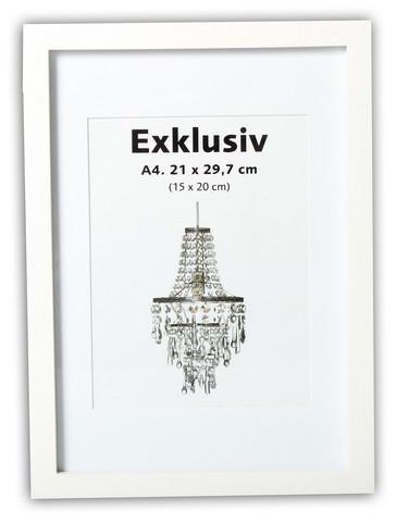 Exklusiv A4 21x29,7/15x20, valkoinen