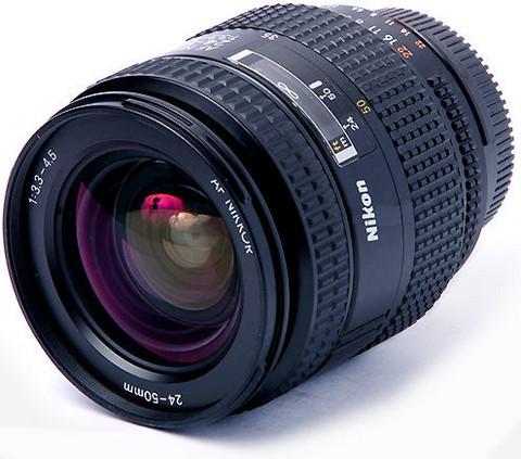 Nikon 24-50mm 3,3-4,5 zoom +pussi, Käytetty