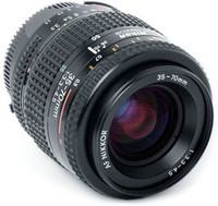 Nikon 35-70mm 3,3-4,5 zoom +pussi, Käytetty