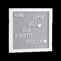 Mascagni Letterboard Bianco/white 30X42 A863