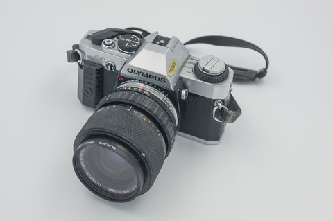 Olympus OM 20 Kino + 28-70mm objektiivi