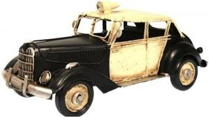 Vanhanajan poliisiauto 1728 beige/musta