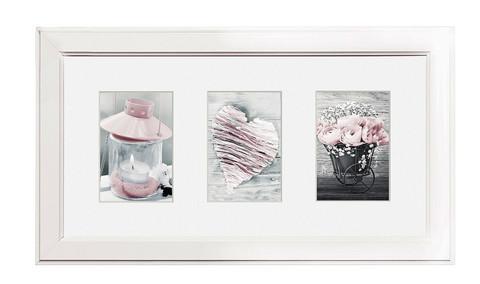 Collage Malmö valkoinen monikuvakehys 3:lle kuvalle