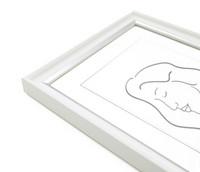 Aava 15x20 Valokuvakehys, valkoinen hopeaviivalla