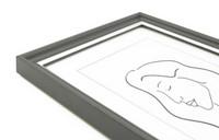 Aava 15x20 Valokuvakehys, grafitinharmaa hopeaviivalla