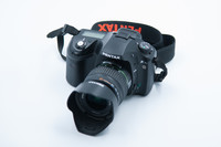 Pentax K10 D + Hihna -Käytetty
