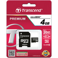 Transcend 4 GB 10 micro SDHC + adapter
