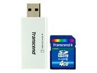 Transcend SDHC 4 GB + lukija
