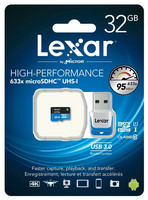Lexar 32 GB microSDHC + USB