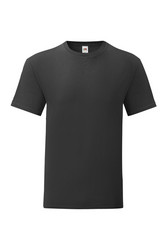 Puuvilla T-paita, musta Slim Fit