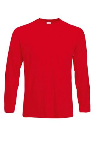 Pitkähihainen puuvilla T-paita, punainen